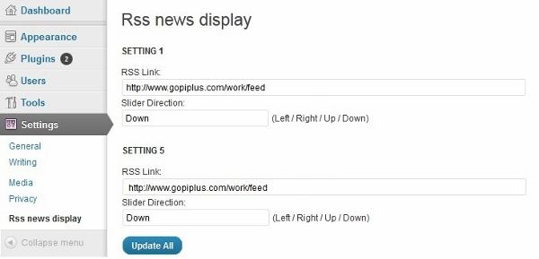 Rss news display