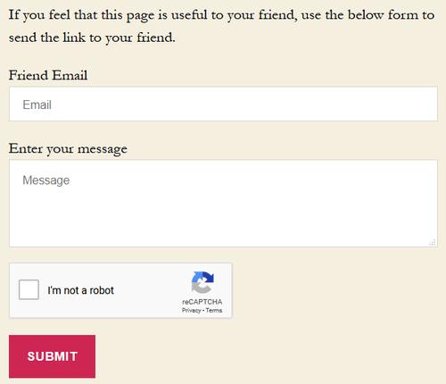 Send Link to Friend WordPress plugin