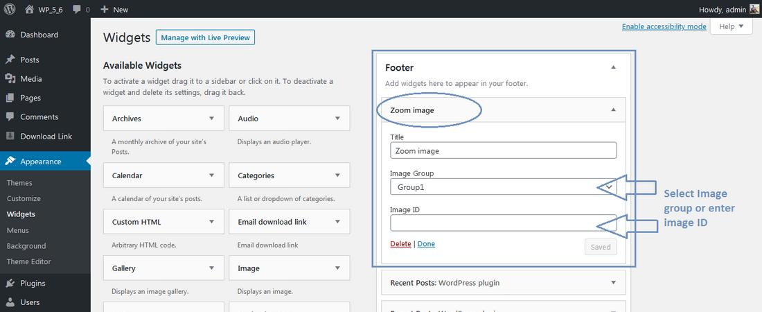 Zoom image simple script wordpress plugin widget screen