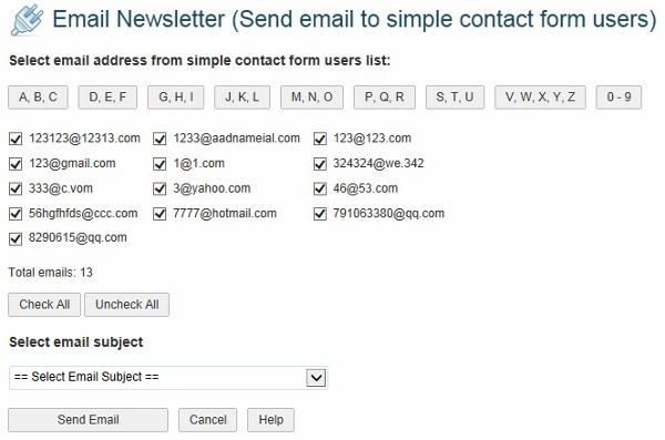 Send Mail to Users who Contacted You
