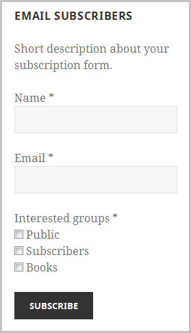 Email Subscribers Advanced Form
